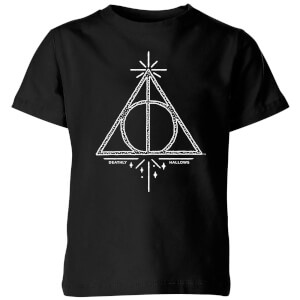 Harry Potter Deathly Hallows Kids' T-Shirt - Black