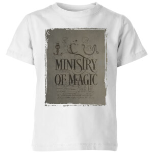 Harry Potter Ministry Of Magic Kids' T-Shirt - White