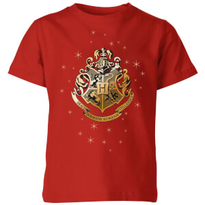 Harry Potter Star Hogwarts Gold Crest Kids' T-Shirt - Red