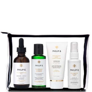 Philip B Four Step Hair & Scalp Treatment Travel Set (Incl. Paraben Free Formula Conditioner)