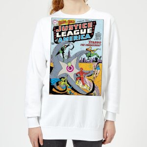Justice League Starro The Conqueror Cover Women's Sweatshirt - White