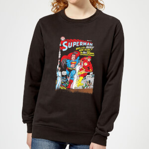 Justice League Who Is The Fastest Man Alive Cover Women's Sweatshirt - Black