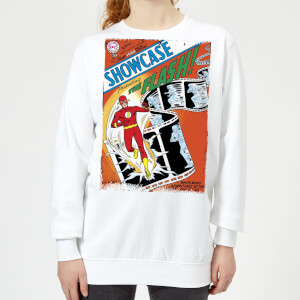 Justice League Showcase Presenting The Flash Cover Women's Sweatshirt - White