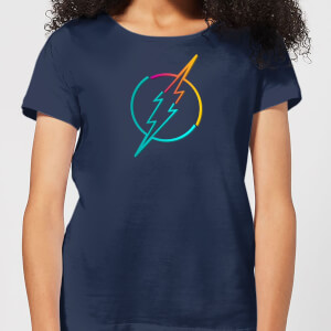 Justice League Neon Flash Women's T-Shirt - Navy