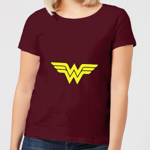 Justice League Wonder Woman Logo Women's T-Shirt - Burgundy