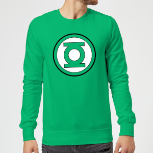 Justice League Green Lantern Logo Sweatshirt - Kelly Green