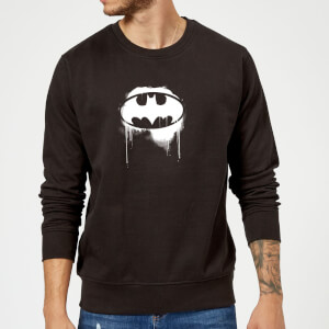 Justice League Graffiti Batman Sweatshirt - Black