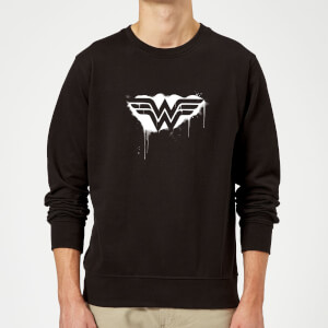 Justice League Graffiti Wonder Woman Sweatshirt - Black