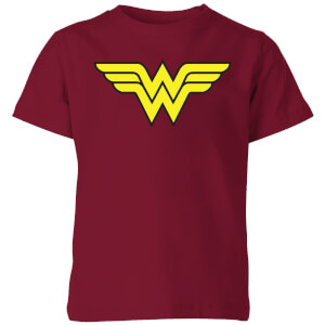 Justice League Wonder Woman Logo Kids' T-Shirt - Burgundy