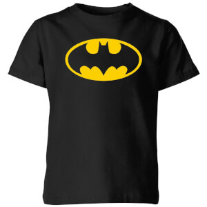 Justice League Batman Logo Kids' T-Shirt - Black