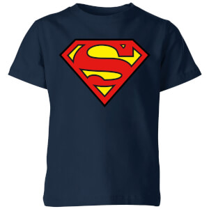 Justice League Superman Logo Kids' T-Shirt - Navy