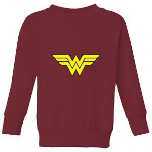 Justice League Wonder Woman Logo Kids' Sweatshirt - Burgundy