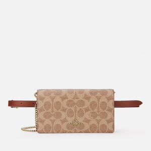 Coach Women's Colorblock Signature Convertible Belt Bag - Tan Rust