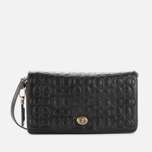 Coach Women's Signature Dinky Cross Body Bag - Black