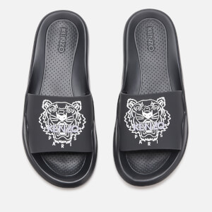 KENZO Women's Tiger Head Pool Sliders - Black