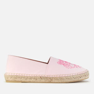 KENZO Women's Classic Tiger Leather Espadrilles - Faded Pink