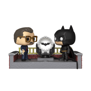 Figura Funko Pop! Movie Moment - Batman Con Bati-Señal - Batman 80° Aniversario
