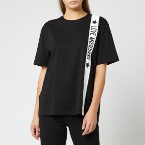 Love Moschino Women's Tape Logo T-Shirt - Black