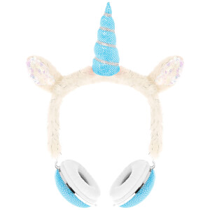 Live Love Music Unicorn Plush Headphones - Blue