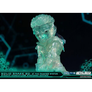 First 4 Figures Metal Gear Solid PVC SD Statue Solid Snake Stealth Camouflage Ver. 20 cm