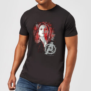 Avengers: Endgame Black Widow Brushed heren t-shirt - Zwart