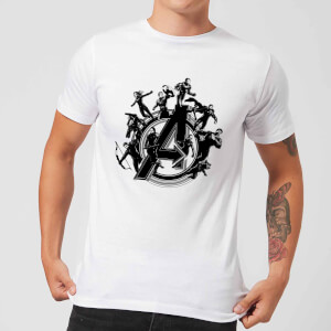 Avengers: Endgame Hero Circle heren t-shirt - Wit