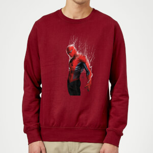 Marvel Spider-man Web Wrap Sweatshirt - Burgundy