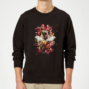 Avengers Endgame Distressed Thanos Sweatshirt - Black