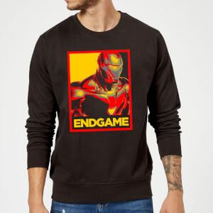 Avengers Endgame Iron Man Poster Sweatshirt - Black