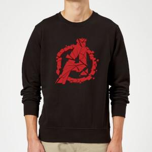 Avengers Endgame Shattered Logo Sweatshirt - Black