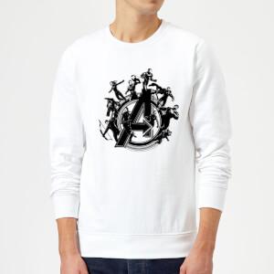 Avengers Endgame Hero Circle Sweatshirt - White