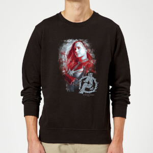 Avengers Endgame Captain Marvel Brushed Sweatshirt - Black