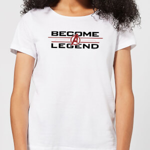 T-shirt Avengers Endgame Become A Legend - Femme - Blanc
