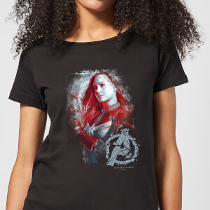 Avengers Endgame Captain Marvel Brushed Damen T-Shirt - Schwarz