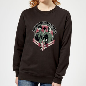 Captain Marvel Take A Risk Women's Sweatshirt - Black