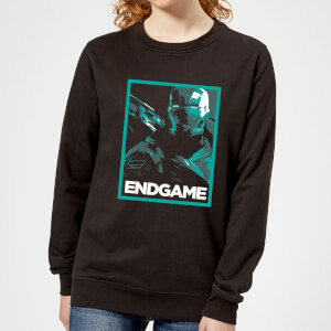 Avengers Endgame War Machine Poster Women's Sweatshirt - Black