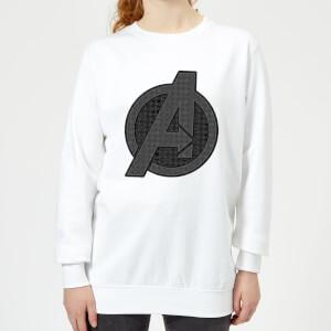 Sweat-shirt Avengers Endgame Iconic Logo - Femme - Blanc