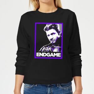 Avengers Endgame Hawkeye Poster Women's Sweatshirt - Black