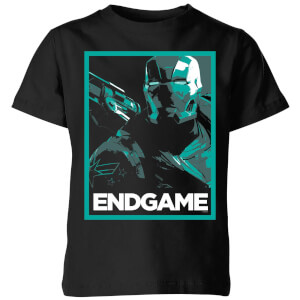 Avengers Endgame War Machine Poster Kids' T-Shirt - Black