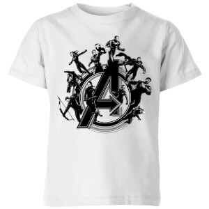 Avengers Endgame Hero Circle Kids' T-Shirt - White