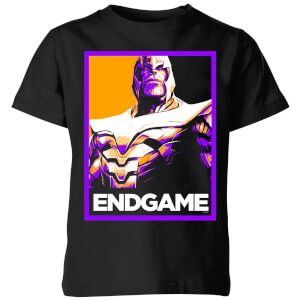 Avengers Endgame Thanos Poster Kids' T-Shirt - Black