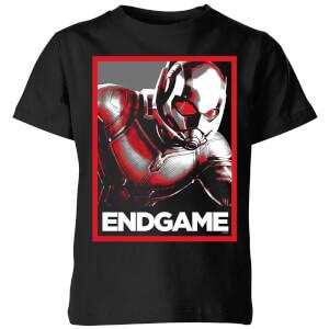 T-Shirt Avengers Endgame Ant-Man Poster - Nero - Bambini