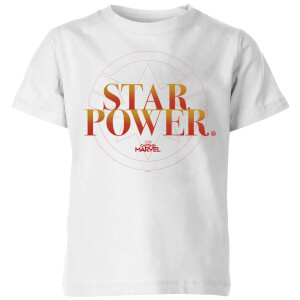 Captain Marvel Star Power Kids' T-Shirt - White