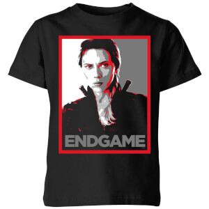 Avengers: Endgame Black Widow Poster kinder t-shirt - Zwart