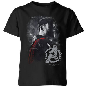 Avengers Endgame Thor Brushed Kids' T-Shirt - Black