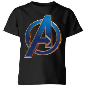 T-Shirt Avengers Endgame Heroic Logo - Nero - Bambini
