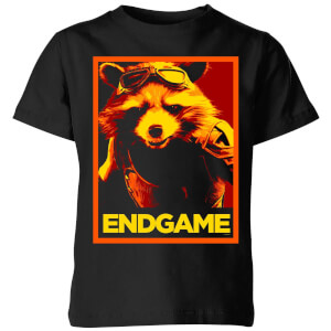 Avengers Endgame Rocket Poster Kids' T-Shirt - Black