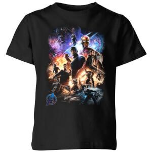 Camiseta Vengadores Endgame Montaje Personajes - Niño - Negro