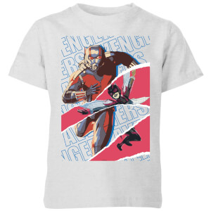 Marvel Avengers AntMan And Wasp Collage Kids' T-Shirt - Grey