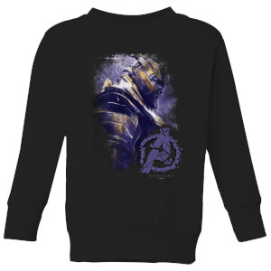 Sweat-shirt Avengers Endgame Thanos Brushed - Enfant - Noir